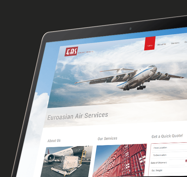 EAS website design