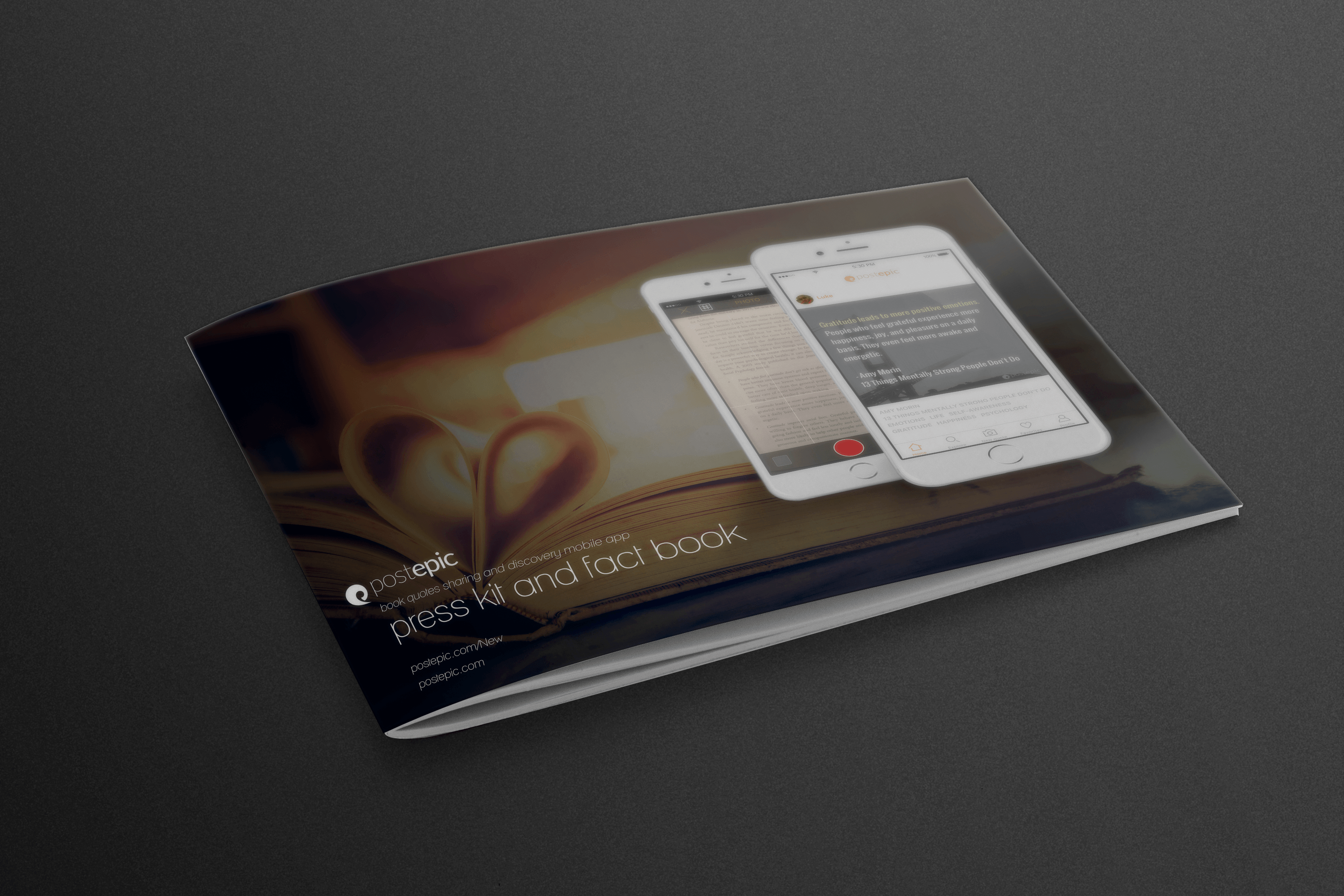 Postepic mobile app press kit design