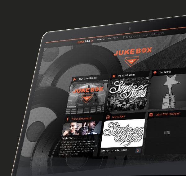Jukebox website design